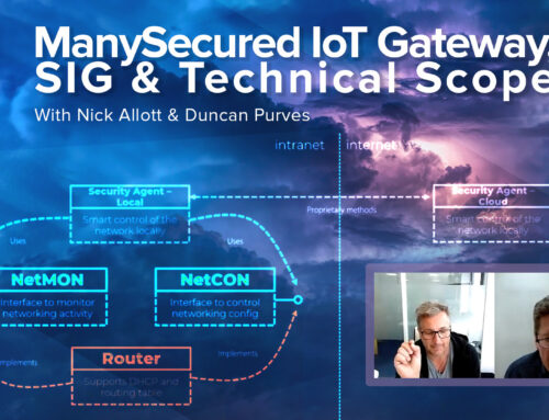 ManySecured IoT Gateway, Update: Special Interest Group and Technical Scope