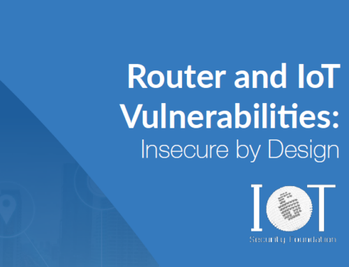 Router and IoT Vulnerabilities: Insecure by Design